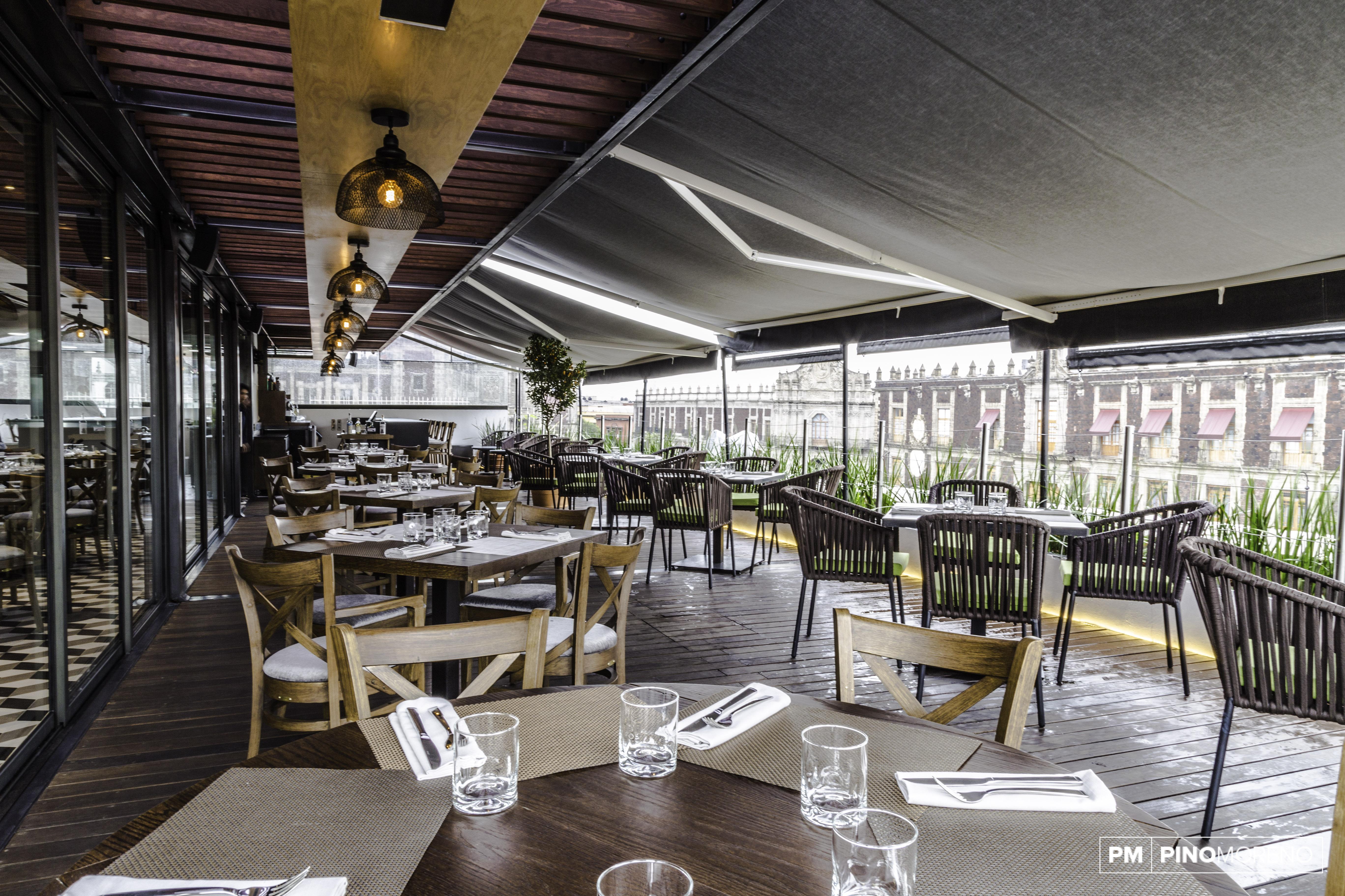 Hotel Domingo Santo: Cocina mexicana de autor en una bella terraza del Centro Histórico